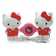 可爱迷你小音箱 Hello Kitty 凯蒂猫HYM-570白色原装造型便携音箱(1对)
