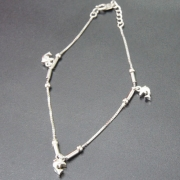 时尚S925纯银饰品 海豚之恋手链