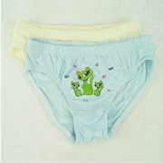 宝路易可爱卡通舒适全棉女童三角裤6075  2条/盒