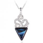 施华洛世奇元素水晶 寒菱花水晶项链 欧希正品 奥地利水晶项链10037
