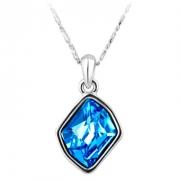 施华洛世奇元素水晶 蓝精灵项链 欧希正品 奥地利水晶元素项链10012