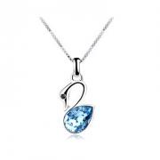 施华洛世奇元素水晶 优雅小天鹅项链 锁骨链 欧希正品 奥地利水晶元素项链10325