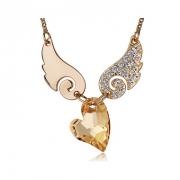 施华洛世奇元素水晶 天使之翼水晶项链 欧希正品 奥地利水晶元素项链10417