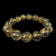 金发钛晶圆珠开运手链(有证书)