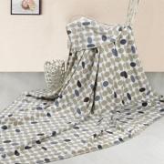 夏凉毯 空调毯 子谷川雨花丝绒毯 100%印花摇粒丝绒纤维