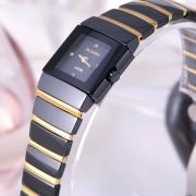 镶钻条钉表盘 日本进口机芯 带日历 防水耐磨 精钢表扣 嘉达 高纯度钨钢女表